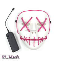 10 pcs 10 color Available Flashing Halloween Mask Skull Face concert mask LED Christmas Carnaval Party Mask For Party Decoration
