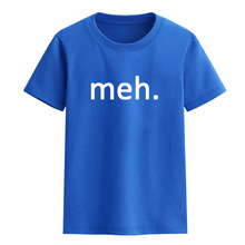 T-shirt for girl boy summer printed Meh Internet Geek Nerd funny letter child T-shirts 2017 100% cotton children clothing top