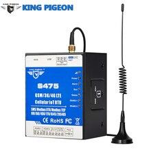 Ethernet celular IoT RTU Sistema de Monitoreo de adquisición de datos compatible con tarjeta Sim Dual RS485 servidor serial Modbus Master/Slave S475