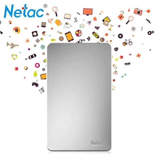 Netac K330 USB3.0 Металл Внешний Жесткий Диск 500 ГБ 1 ТБ 2 ТБ HDD Корпус HD Жесткий Диск Устройства Хранения С розничной упаковка