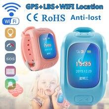 จัดส่งฟรี! Wifiเด็กดูสมาร์ทจีพีเอส+ LBS + WIFIติดตามป้องกันการสูญหายSOSโทรหน้าจอPedometer