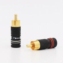 Alta qualidade 24 K banhado a Ouro Hi End plug RCA conector
