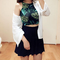 Women Short Crop Top Summer Style Sleeveless Croptops Fitness Tank Tops Femme Vest Tube Top