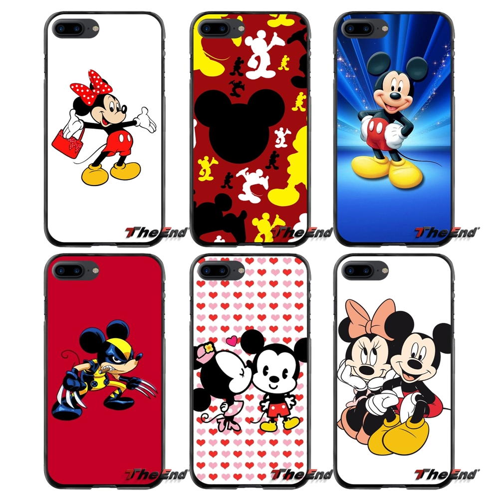 Mickey Mouse Pattern Accessories Phone Cases Covers For Apple iPhone 4 4S 5 5S 5C SE 6 6S 7 8 Plus X iPod Touch 4 5 6