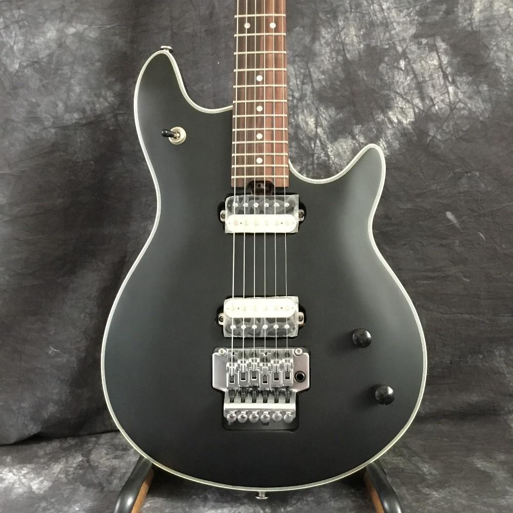 Suneye boutique personnalisée noir evh wolfgang guitare électrique floyd rose tréolo argent guitares chine kits et corps disponibles