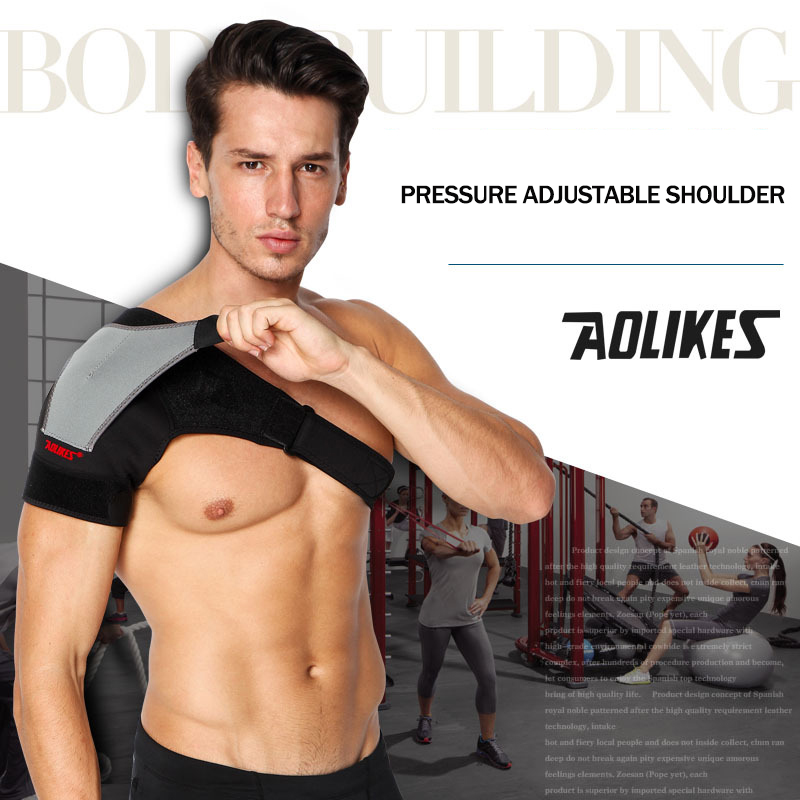 1pc Sport Wear Exercise Fitness Pressure Adjustable Shoulder Pad Belt Protector Pauldron Spaulders Weightlifting Protective Gear
