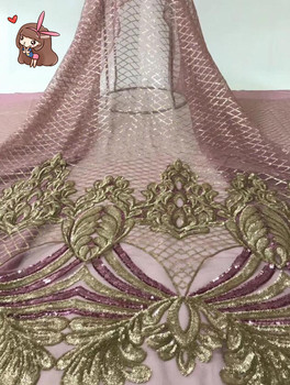 SYJ-51715 good looking African tulle embroidery lace fabric for wedding dress