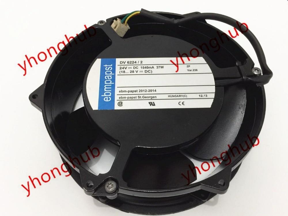 ebmpapst DV6224/2 DV 6224/2 Server Square Fan DC 24V 37W 172x172x51mm 4-wire for orix mrs18 dc f6 ac 200v 0 4a 0 5a 2 wire 170mm 180x180x90mm server square cooling fan