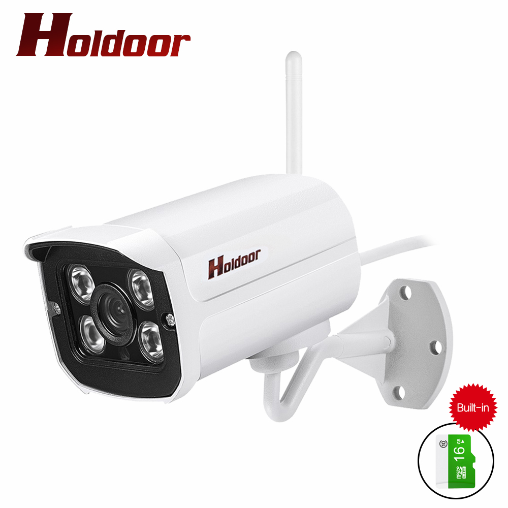 Outdoor Waterproof Bullet IP Camera Wifi Wireless Surveillance Camera Built-in 16G Memory Card CCTV Camera Night Vision Motion wistino cctv camera metal housing outdoor use waterproof bullet casing for ip camera hot sale white color cover case