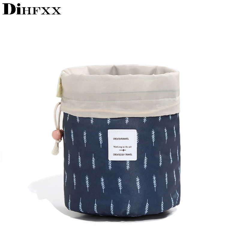 DIHFXX Lazy Drawstring Shockproof Travel Digital USB Charger Cable Earphone Case Makeup Cosmetic Organizer Accessories Bag