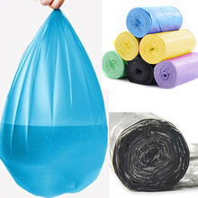 50 Pcs /Roll Home Office Kitchen Disposable Garbage Waste Trash Rubbish Bags стоимость