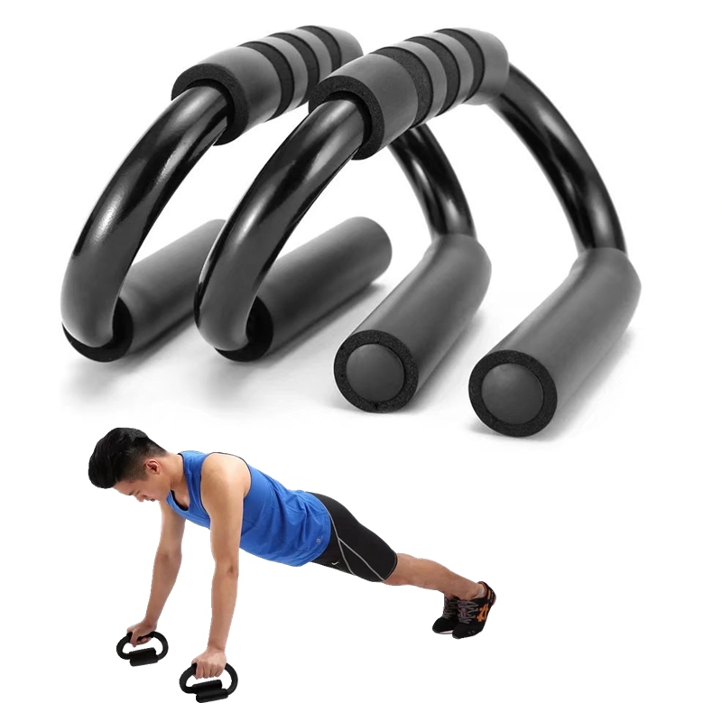 1 Pair S-shaped Push Ups Stands Grip Fitness Equipment Chest Body Buiding Rack Sports Muscular Training Pushup Bar Exercise