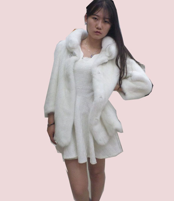 Real fur coat skirt type