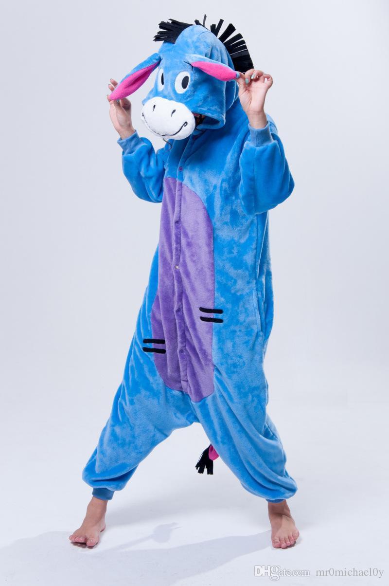 Lydia's and Families Home  DONKEY-One-Piece-Pajama-Onesies-For-Adult-Cute-Animal-Pajamas-Onesies-Men-Women-Animal-Onesies-Jumpsuit