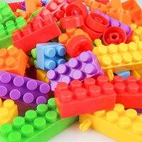 160 pz/borsa Per Bambini In Plastica Per Le Particelle Più Grandi Blocchi di Costruzione di Mattoni FAI DA TE Assemblato Giocattoli Educativi Giocattolo Per Bambini Regali per Bambini