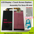 1pcs black high quality  4.6'' LCD Display Touch Screen Digitizer Assembly adhesive For Sony Xperia Z5 Compact mini E5803 E5823