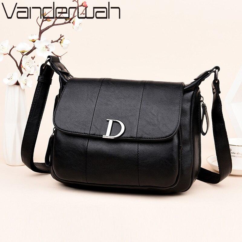 VANDERWAH NEW Flap bags handbags women famous brands high quality shoulder bag fashion Letter crossbody bag women messenger bags 1