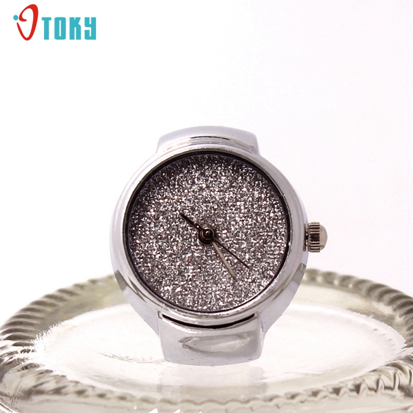 OTOKY Dial Quartz Analog Watch Creative Steel Cool Elastic Quartz Finger Ring Watch Promotional Gifts #N01