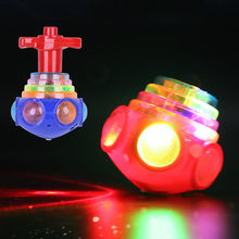 Funny LED Light Up Tiny Toy Fidget Spinner Stress Relief Gift Gyroscop Toy Bayblade Burst Spinning Top Bey Blade Blades Toy(China)
