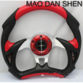 "2015 new Universal momo 13 ""/ 320mm PU + PVC Sport Racing Steering Wheel + Horn Button New"