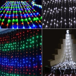 6M x 4M 750 LED Outdoor Home Warm White Christmas Decorative xmas String Fairy Curtain Garlands Strip Party Lights For Holiday