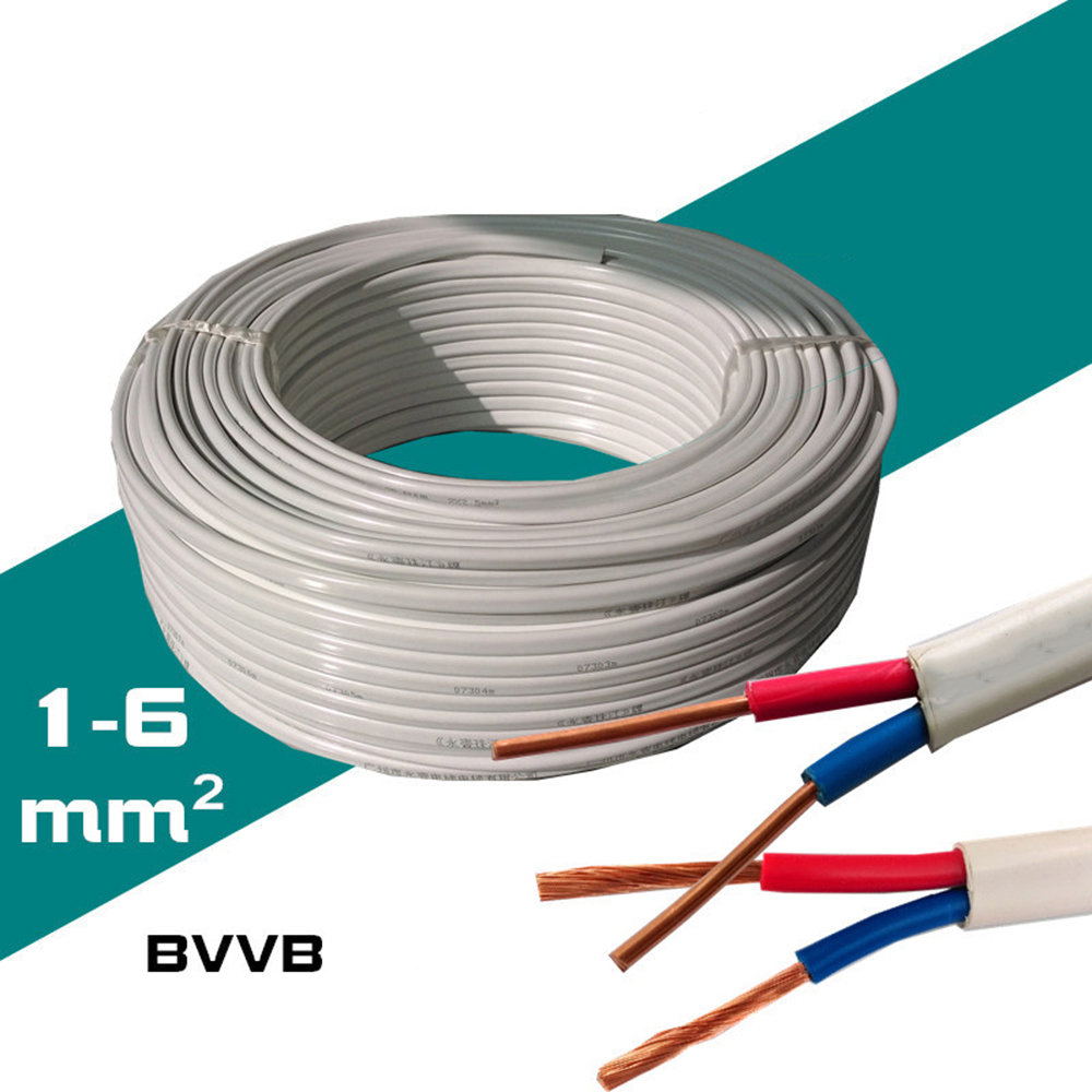 RVB 2*2.5mm Square Copper cable parallel to the outer wire LED ...
