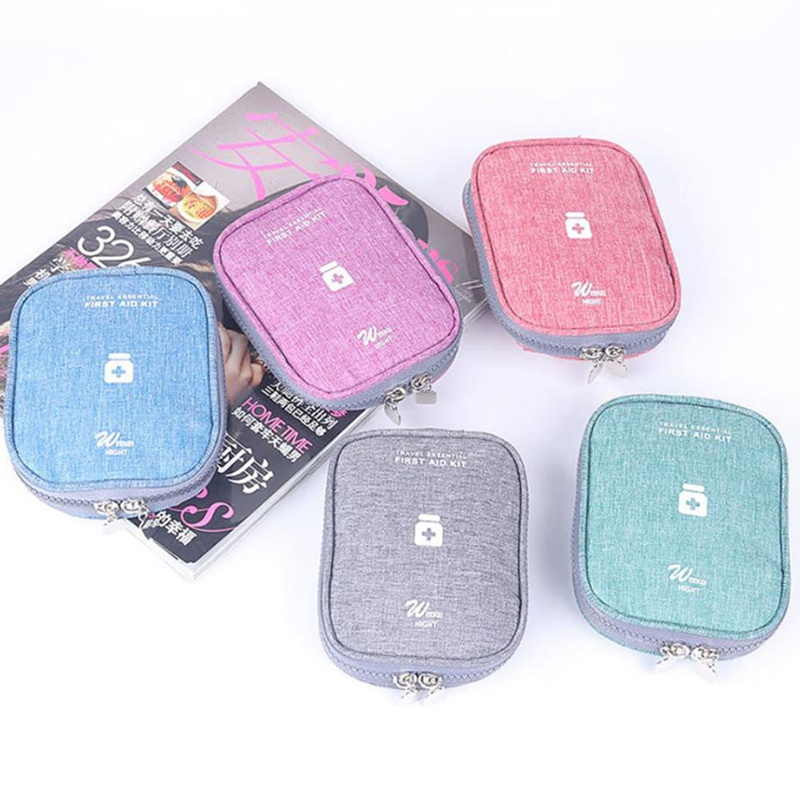 Mini Oxford Cloth Emergency   Bag First Aid Kit Box Travel, Outdoor, Etc 2 Interior Compartments Travel