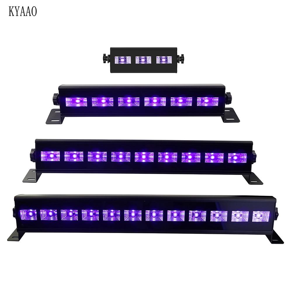 UV Stage Light LED Violet Dj Laser Light Club Disco Lighting For Halloween Party Purple Par Stage Effect Lights
