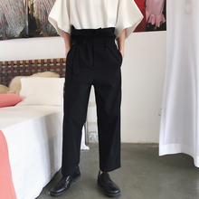 New Male Women Straight HaremTrousers Men High-waisted Loose Casual Pan