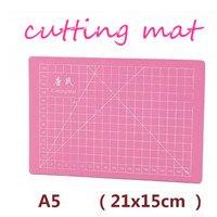 PVC A5 Cutting Mat Single Face Self Healing Cutting Paper Pad Pink Handmade Model Diy