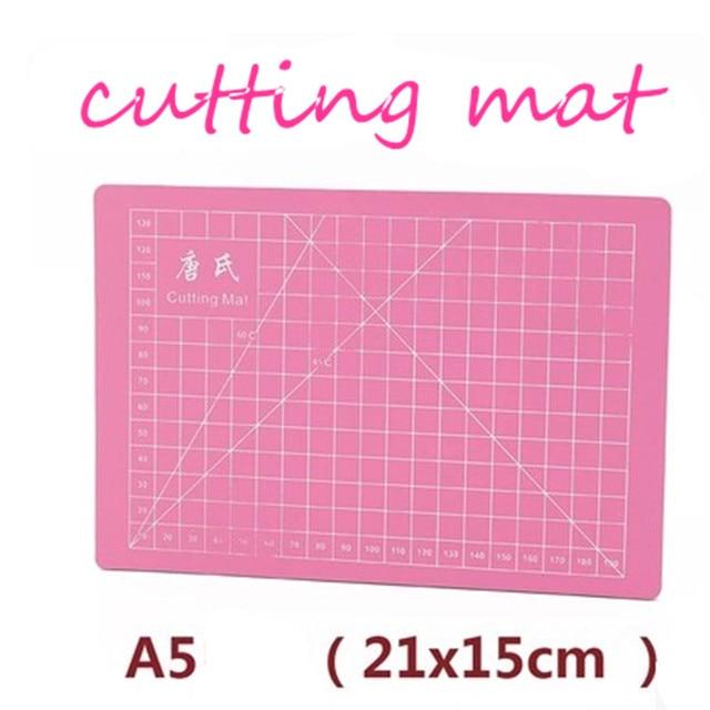 PVC A5 cutting mat single face self-healing cutting paper pad pink   handmade model  diy Accessory cutting board 21 x15cm