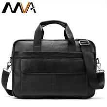 MVA Men's Genuine Leather Bags Messenger Bag Men Shoulder Crossbody Bags Business Men Briefcase Leather Laptop Handbags Male Bag