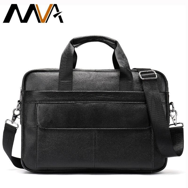 MVA 남자 진짜 가죽 가방 메신저 가방 남자 어깨 Crossbody 가방 비즈니스 남자 서류 가방 가죽 노트북 핸드백 남성 가방