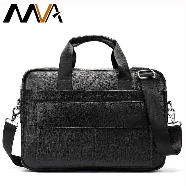 d7000e5f7256 MVA сумка мужская натуральная кожа сумка мужская портфели кожаные мужские  сумка через плечо мужская сумка мужская