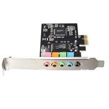 Высокое Качество 6 порт Аудио Цифровой Звуковая Карта PCI Express x1 PCI-E CMI8738 Чипсет 5.1-канальный