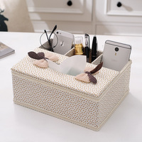 Fabric Multifunctional Paper Towel Box Living Room Tea Table Remote Control Box Household Napkin Box