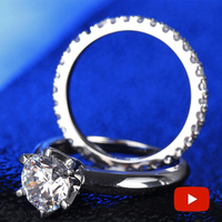 2 Carat Round Cut NOT FAKE S925 Sterling Silver Ring SONA Diamond solitaire Fine Ring Unique Style Love Wedding Engagement