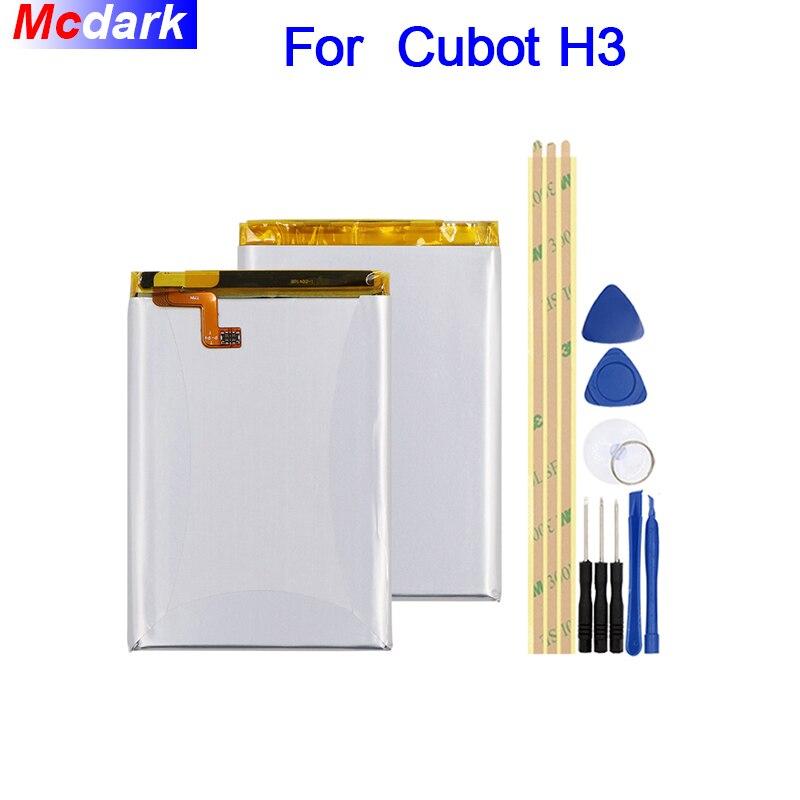 Mcdark 6000mAh Battery For Cubot H3 Batterie Bateria Accumulator AKKU ACCU PIL Mobile Phone+ToolsMcdark 6000mAh Battery For Cubot H3 Batterie Bateria Accumulator AKKU ACCU PIL Mobile Phone+Tools