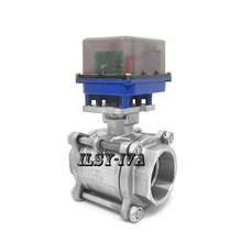 Three piece type two-way DN65 DC12V/24V Stainless steel electric ball valve