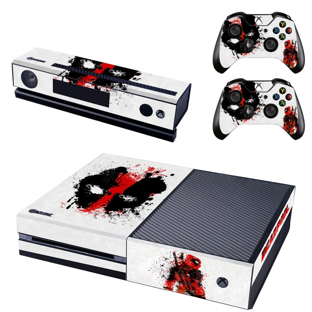 Video Games & Consoles Deadpool Xbox One S 5 Sticker Console Decal Xbox One Controller Vinyl Skin