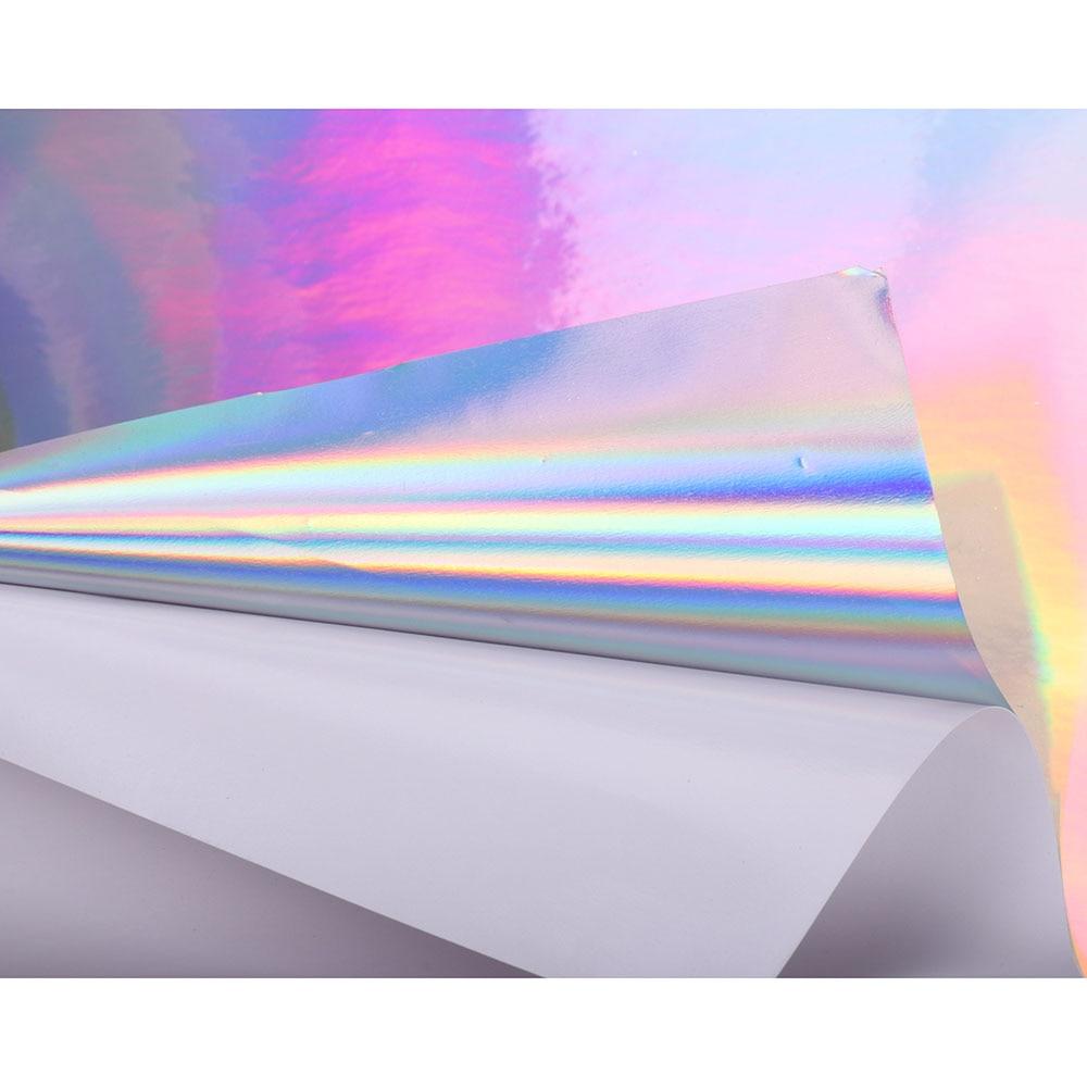 Ancho de HOHOFILM: 50cm artesanías adhesivas holográficas de vinilo sintético artificial falso para taza de coche bolsa de pared 30 cm/50 cm/100 cm/200 cm