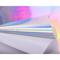 HOHOFILM Width: 50cm Holographic Adhesive Craft Vinyl faux artificial Synthetic For CAR Cup Wall Bag 30cm/50cm/100cm/200cm|Decorative Films| |  -