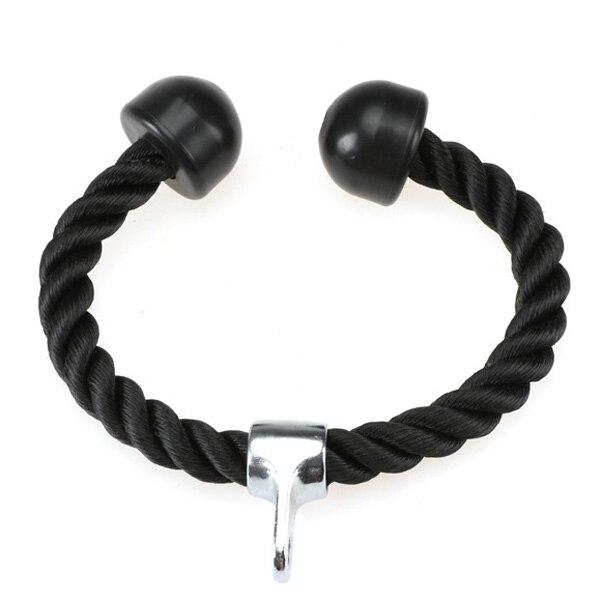 Tricep Nylon Rope Push Pull Down Black