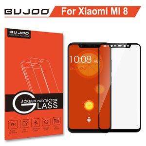 Image 1 - 100% Original BUJOO altamente sensible 2.5D funda completa templada Glass para Xiaomi mi 8 Xio mi 8 9H 0,3mm película protectora de pantalla