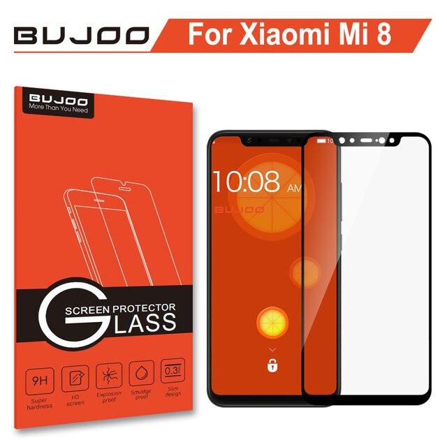 100% Original BUJOO altamente sensible 2.5D funda completa templada Glass para Xiaomi mi 8 Xio mi 8 9H 0,3mm película protectora de pantalla