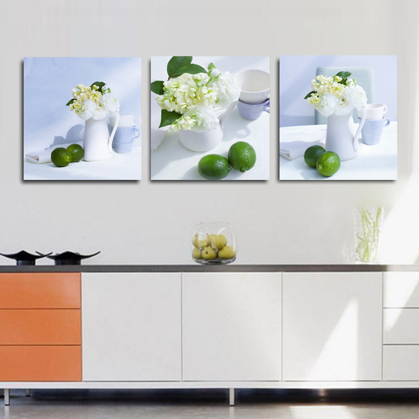 Decoration Pieces For Kitchen: Modern 3 Piece Fruit Kitchen Pictures Abstract Beautiful