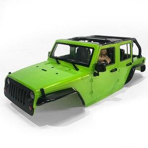 Image 5 - ประกอบ12.3นิ้ว313Mmฐานล้อBodyสำหรับรถยนต์1/10 RC 5ประตูรถของJeep Wrangler Axial SCX10 & SCX10 II 90046