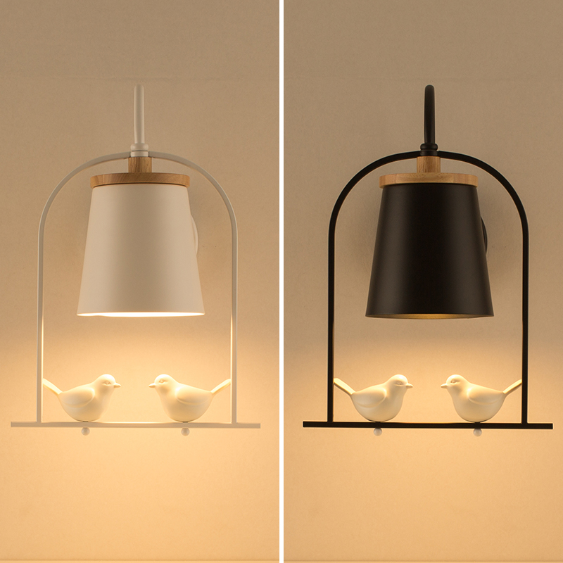 Nordic Bedroom Wall Lamp Antique Dining Room Lights Modern Living Room Bedside Aisle Stairs Wall Lamps led Children Wall Sconce