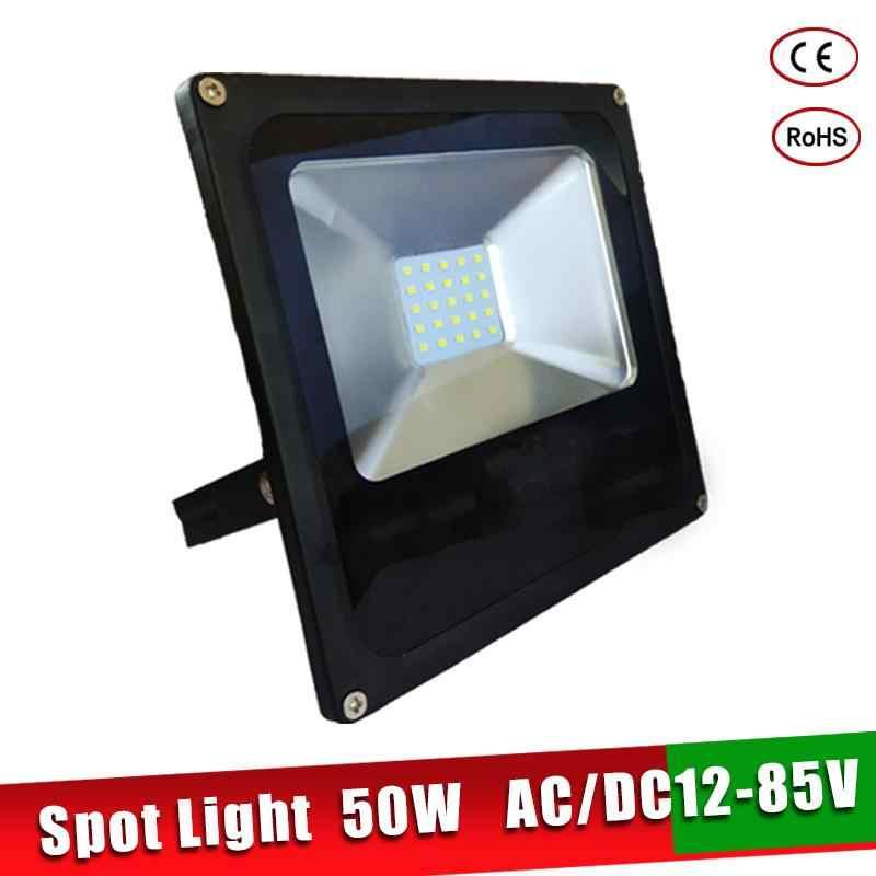 Ultrathin 12 Volt LED Flood Light 10W 20W 30W 50W AC/DC 12-85V Waterproof IP65 Outdoor Spotlight Refletor Projector Wall Light