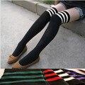 Barato más de rodilla-alta de algodón al por mayor antideslizante muchacha/estudiante/moda mujer calcetines
